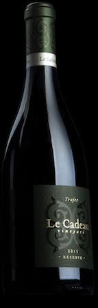 le cadeau vineyard trajet reserve pinot noir 2015 bottle - Le Cadeau Vineyard 2015 Trajet Reserve Pinot Noir, Chehalem Mountains, $80
