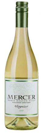 mercer estates culloden vineyard viognier 2017 bottle - Mercer Estates 2017 Culloden Vineyard Viognier, Horse Heaven Hills, $13