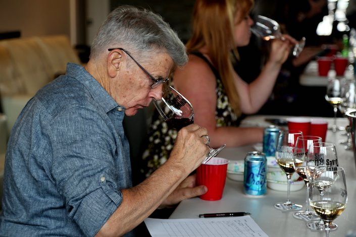 mike dunne idaho wine competition 2018 deborah christison - Famed writer Mike Dunne tastes trends at San Francisco Chronicle Wine Competition