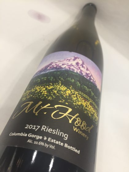 mt hood winery estate riesling 2017 bottle e1535464853946 - Mt. Hood Winery 2017 Estate Riesling, Columbia Gorge, $20