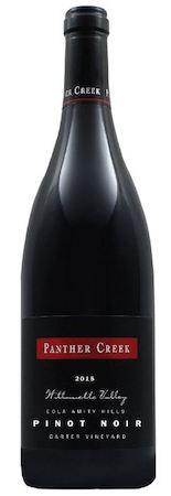 panther creek cellars carter vineyard pinot noir 2015 bottle - Panther Creek Cellars 2015 Carter Vineyard Pinot Noir, Eola-Amity Hills, $65