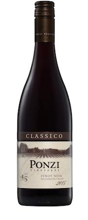 ponzi vineyards classico pinot noir 2017 bottle - Ponzi Vineyards 2015 Classico Pinot Noir, Willamette Valley, $43