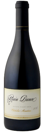 rain dance vineyards estate pinot noir 2016 bottle - Rain Dance Vineyards 2016 Estate Pinot Noir, Chehalem Mountains, $40