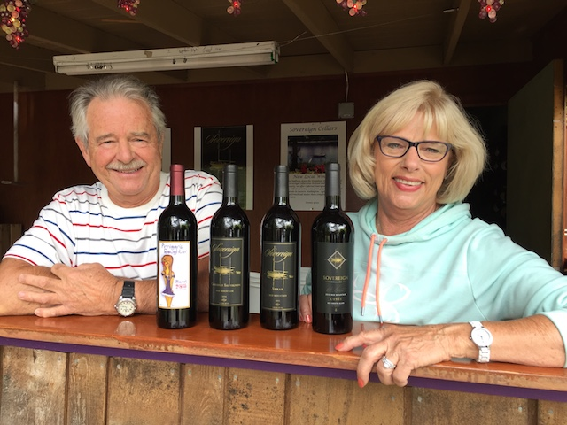 sovereign cellars dennis gross kathy gross2018 - Wind Rose Cellars tops Capital judging with Primitivo