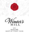 winters hill estate rose pinot noir 2017 label 120x134 - Winter's Hill Estate 2017 Estate Rosé of Pinot Noir, Dundee Hills, $22