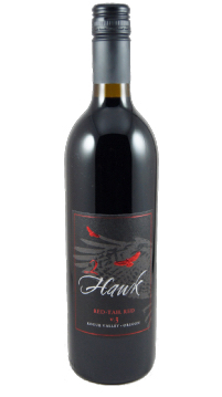 2 hawk red tail red nv bottle - 2Hawk Vineyard and Winery NV v.3 Red-Tail Red, Rogue Valley, $22