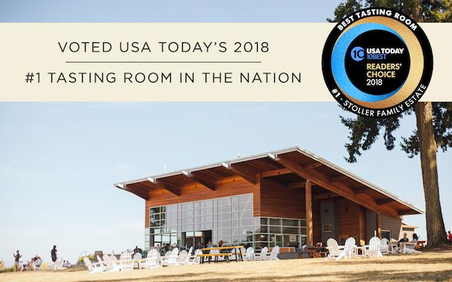 stoller family estate usa today 2018 award - USA Today readers vote Stoller Family Estate tasting room No. 1 in nation