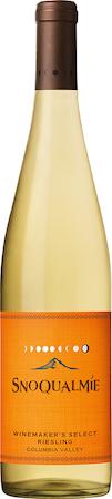 snoqualmie vineyards winemaker select riesling nv bottle - Snoqualmie Vineyards 2016 Winemaker's Select Riesling, Columbia Valley, $8