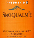 snoqualmie vineyards winemaker select riesling nv label 120x134 - Snoqualmie Vineyards 2016 Winemaker's Select Riesling, Columbia Valley, $8