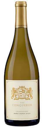 the conqueror chardonnay nv bottle - The Conqueror Winery 2016 Chardonnay, Horse Heaven Hills $19