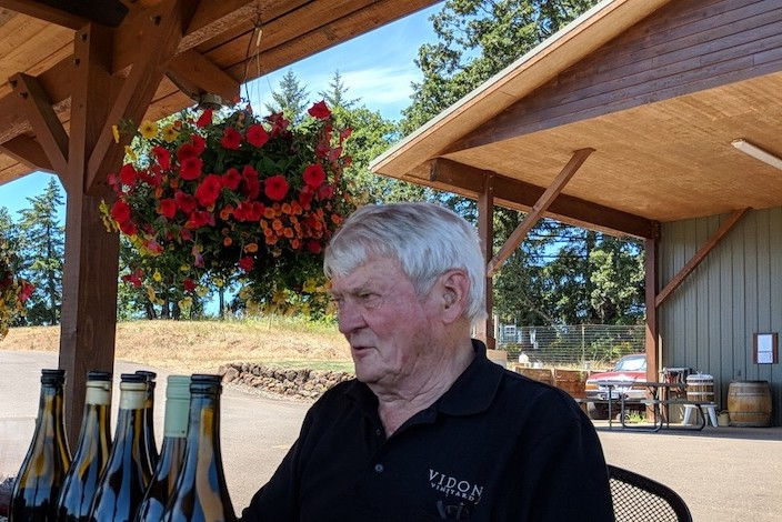 don hagge vidon vineyard pergola - Vidon Vineyard melds science, craftsmanship into Oregon wine