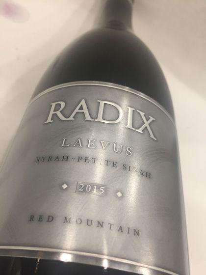 radix laevus syrah petite sirah 2015 bottle - Radix Winery 2015 Laevus Syrah - Petite Sirah, Red Mountain, $48