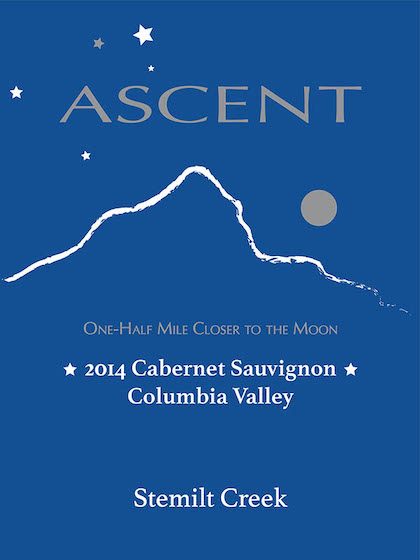 Stemilt Creek Winery 2014 Ascent Cabernet Sauvignon label