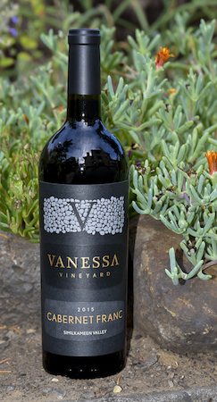 vanessa vineyard 2015 cabernet franc bottle GWI 10 03 18 3174 - Vanessa Vineyard 2015 Cabernet Franc, Similkameen Valley, $50