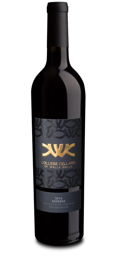 college-cellars-walla-walla-ciel-du-cheval-vineyard-barbera-2016-bottle