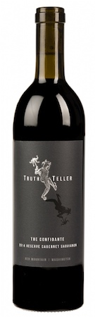truth teller winery the confidante reserve cabernet sauvignon 2014 bottle - TruthTeller Winery 2014 The Confidante Reserve Cabernet Sauvignon, Red Mountain $45