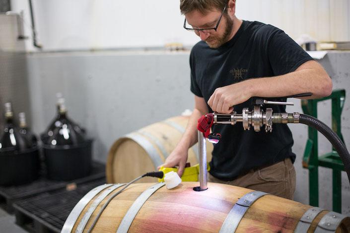 aaron-peet-cellardoor-winery-barrel