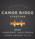 canoe ridge vineyard the benches limited edition cabernet sauvignon 2015 label 120x134 - Canoe Ridge Vineyard 2015 The Benches Vineyard Limited Edition Cabernet Sauvignon, Horse Heaven Hills, $44