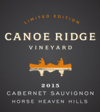 canoe ridge vineyard the benches limited edition cabernet sauvignon 2015 label 199x223 - Canoe Ridge Vineyard 2015 Limited Edition Cabernet Franc, Horse Heaven Hills, $42