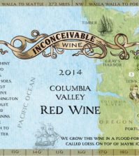 inconceivable wine red wine 2014 label 199x223 - Inconceivable Wines 2014 Red Wine, Columbia Valley, $25