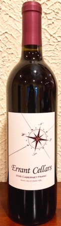 Errany Cellars cabernet Franc - Errant Cellars 2016 Cabernet Franc, Ancient Lakes of Columbia Valley, $24