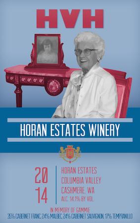 Horan Estates HVH - Horan Estates Winery 2014 HVH Red Blend, Columbia Valley, $26