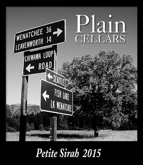 Plain pete sirah - Plain Cellars 2015 Petite Sirah, Yakima Valley, $35