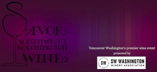 savor sw wa wine poster - Vancouver USA wineries set table for Savor SW WA Wine