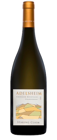 adelsheim staking claim chardonnay 2016 bottle - Adelsheim Vineyard 2016 Staking Claim Chardonnay, Chehalem Mountains $35