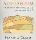 adelsheim staking claim chardonnay 2016 label.jpg 120x134 - Adelsheim Vineyard 2016 Staking Claim Chardonnay, Chehalem Mountains $35