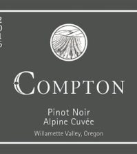 compton family wines alpine cuvee pinot noir 2016 label 199x223 - Compton Family Wines 2016 Alpine Cuvée Pinot Noir, Willamette Valley $38
