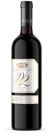 delille cellars d2 25th vintage red wine 2016 bottle - DeLille Cellars 2016 25th Vintage D2 Red Wine, Columbia Valley $45