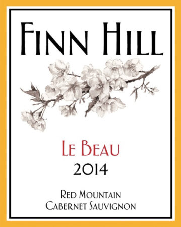 finn hill winery le beau cabernet sauvignon 2014 label e1553473508913 - Finn Hill Winery 2014 Le Beau Cabernet Sauvignon, Red Mountain, $30
