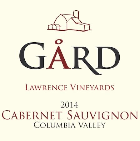 gard vintners lawrence vineyards cabernet sauvignon 2014 label crop - Gård Vintners 2014 Lawrence Vineyards Cabernet Sauvignon, Columbia Valley $35