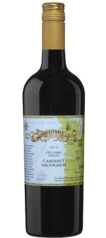 inconceivable wine after the flood cabernet sauvignon 2014 bottle e1553113663423 - Inconceivable Wines 2014 After the Floods Cabernet Sauvignon, Columbia Valley $25