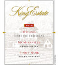 king estate hyland vineyard pinot noir label 2014 120x134 - King Estate 2014 Hyland Vineyard Pinot Noir, McMinnville $55