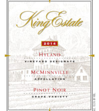 king estate hyland vineyard pinot noir label 2014 199x223 - King Estate 2014 Hyland Vineyard Pinot Noir, McMinnville $55