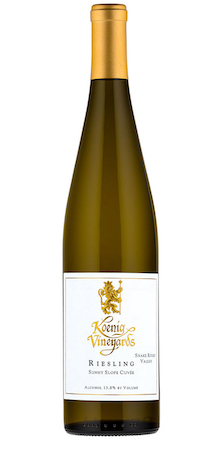 koenig vineyards sunny slope cuvee riesling nv bottle - Koenig Vineyards 2017 Sunny Slope Cuvée Riesling, Snake River Valley $12