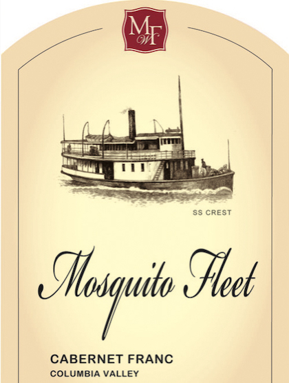 mosquito fleet winery cabernet franc nv label - Mosquito Fleet Winery 2016 Cabernet Franc, Columbia Valley $34