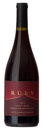 ruby vineyard laurelwood blend pinot noir 2015 bottle - Ruby Vineyard and Winery 2015 Laurelwood Blend Pinot Noir, Chehalem Mountains $29