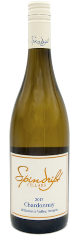 spindrift cellars chardonnay 2017 bottle - Spindrift Cellars 2017 Chardonnay, Willamette Valley $22