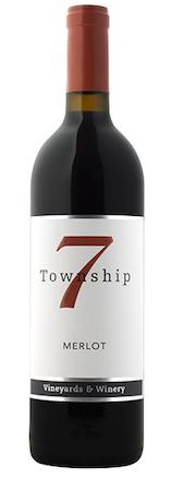 township 7 merlot nv bottle - Township 7 Vineyards & Winery 2016 Merlot, Okanagan Valley $25