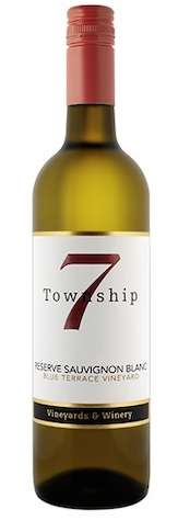 township 7 ResSauvBlanc NV bottle - Township 7 Vineyards & Winery 2017 Blue Terrace Vineyard Reserve Sauvignon Blanc, Okanagan Valley, $27