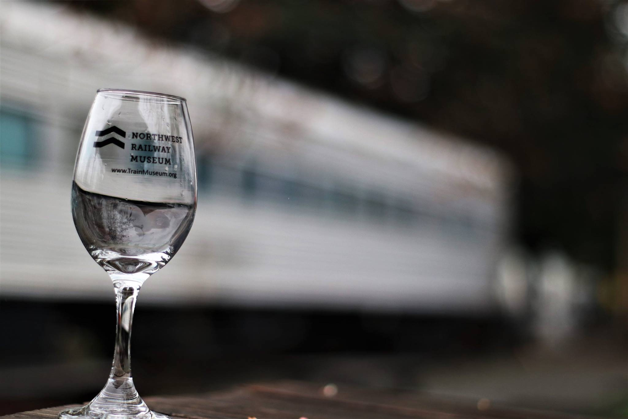 Wine Glass at Wine Train Silverbullet - Snoqualmie Valley Wine Train Excursion
