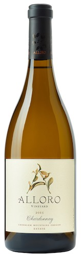 alloro vineyard estate chardonnay 2015 bottle - Alloro Vineyard weaves New World with Old in Chehalem Mountains