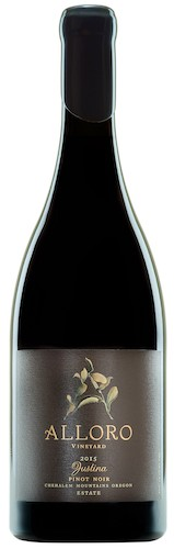 alloro vineyard justina pinot noir 2015 bottle - Alloro Vineyard weaves New World with Old in Chehalem Mountains