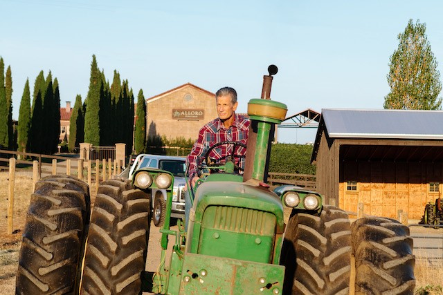 david nemarnik tractor alloro vineyard - Alloro Vineyard weaves New World with Old in Chehalem Mountains