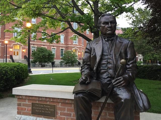 john purdue statue eric degerman - Maryhill, Gehringer Bros. stand tall at INDY International judging
