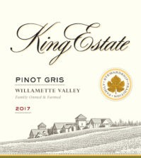 king estate winery pinot gris 2017 lbel 199x223 - King Estate 2017 Pinot Gris, Willamette Valley $19