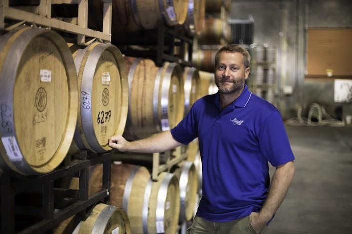 richard batchelor barrel room maryhille winery - Amelia Wynn 2016 Grenache wins Washington State Wine Competition
